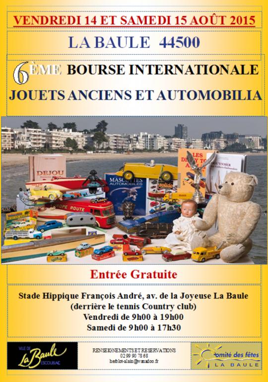 10éme Bourse aux jouets anciens @ Stade François André | La Baule-Escoublac | Pays de la Loire | France