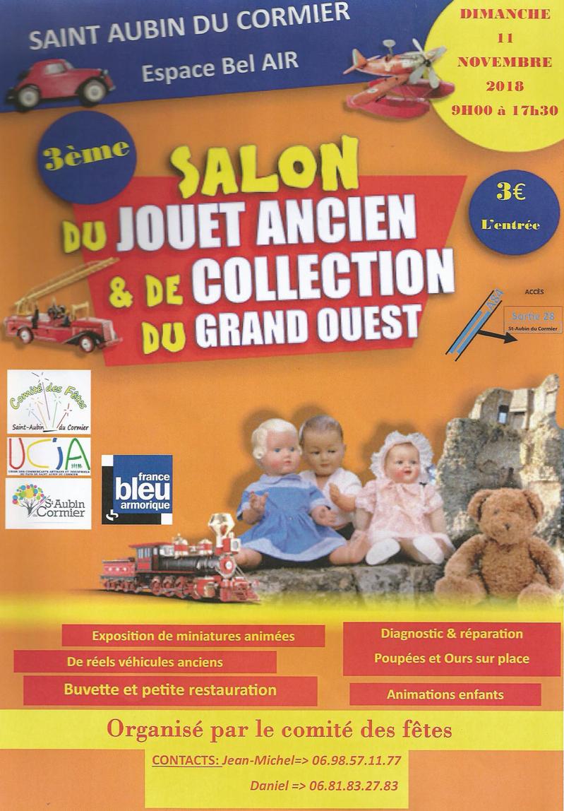 Salon du jouet ancien et de collection St Aubin du Cormier 2019 @ Espace Bel Air | Saint-Aubin-du-Cormier | Bretagne | France
